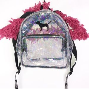 Victoria's Secret Pink   Clear Mini Backpack